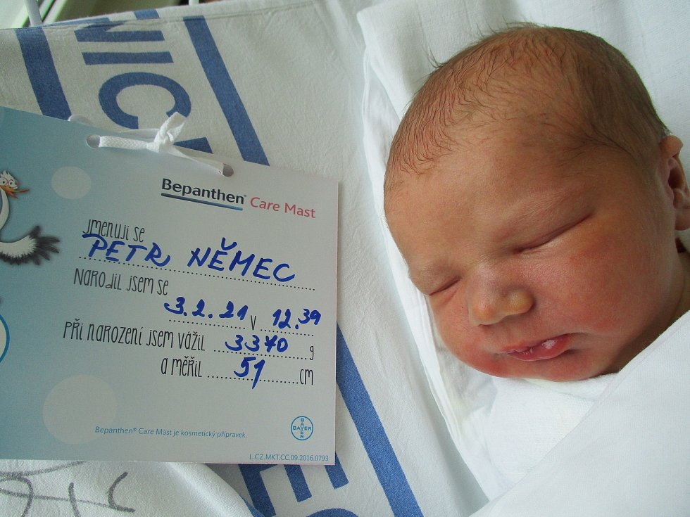 Petr Němec, 3. února 2021, Břeclav, Nemocnice Břeclav, 3370 g, 51 cm