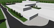 Plánovaný lázeňský komplex v Pasohlávkách. Nákupní zóna.