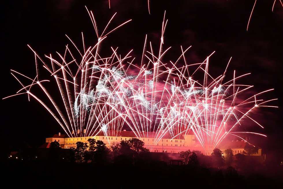 Ohňostroje festivalu Ignis Brunensis.