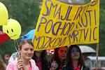 Od Fakultní nemocnice u sv. Anny v Brně prošel městem Smajlíkový pochod proti mozkové mrtvici.