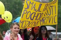 V minulosti od Fakultní nemocnice u sv. Anny v Brně prošel městem Smajlíkový pochod proti mozkové mrtvici.