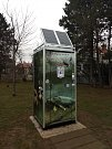 Dvojice nových veřejných toalet v parku na Kraví hoře.