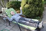 Malíř Vojtek nejraději odpočívá na své zahradě.