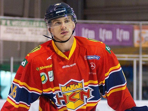 Hokejový obránce Juraj Valach.