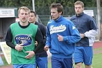 Hokejisté brněnské Komety při přípravě na novou sezonu.