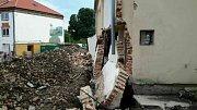 Zničená kaple v Zastávce na Brněnsku.