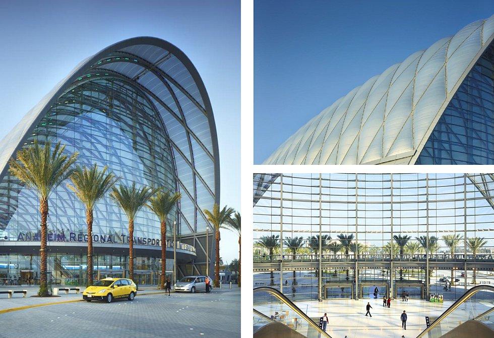 OMA (Rotterdam): Anaheim transportation center, Spojené státy americké. Vizualizace.