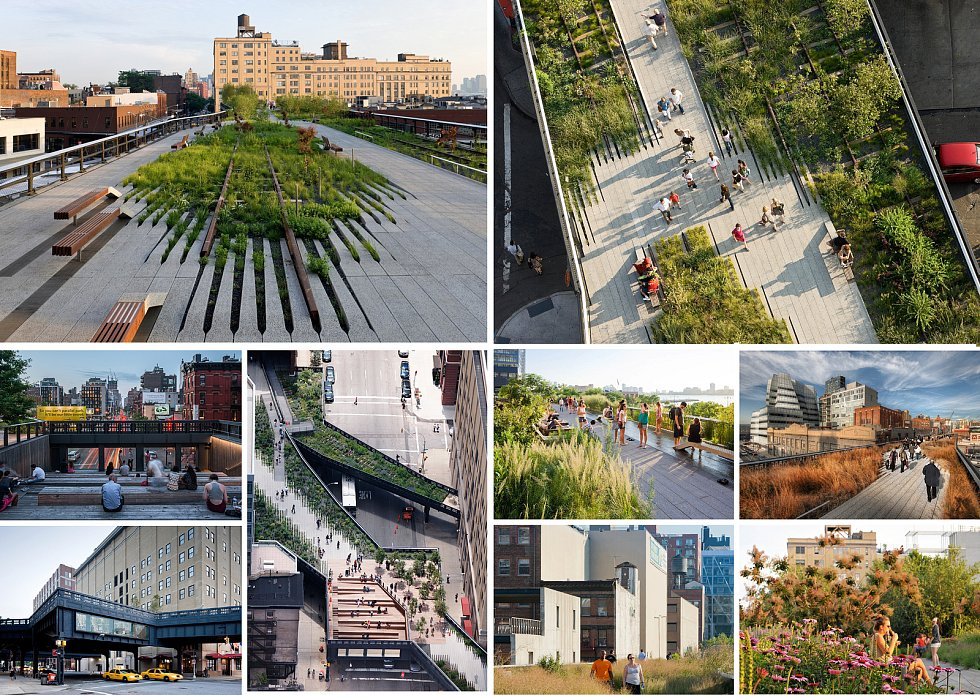 Diller Scofidio, Renfro (New York): The High Line, New York, Spojené státy americké. Vizualizace.