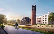 Jeden z šesti architektonických návrhů předposlední zóny Nové Zbrojovky.