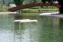 Areál brněnského koupaliště Riviera.