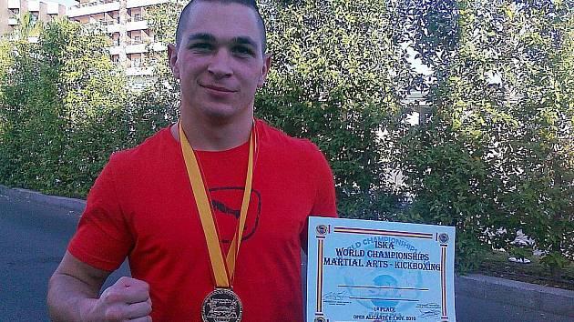 Kickboxer Jiří Kopečný.