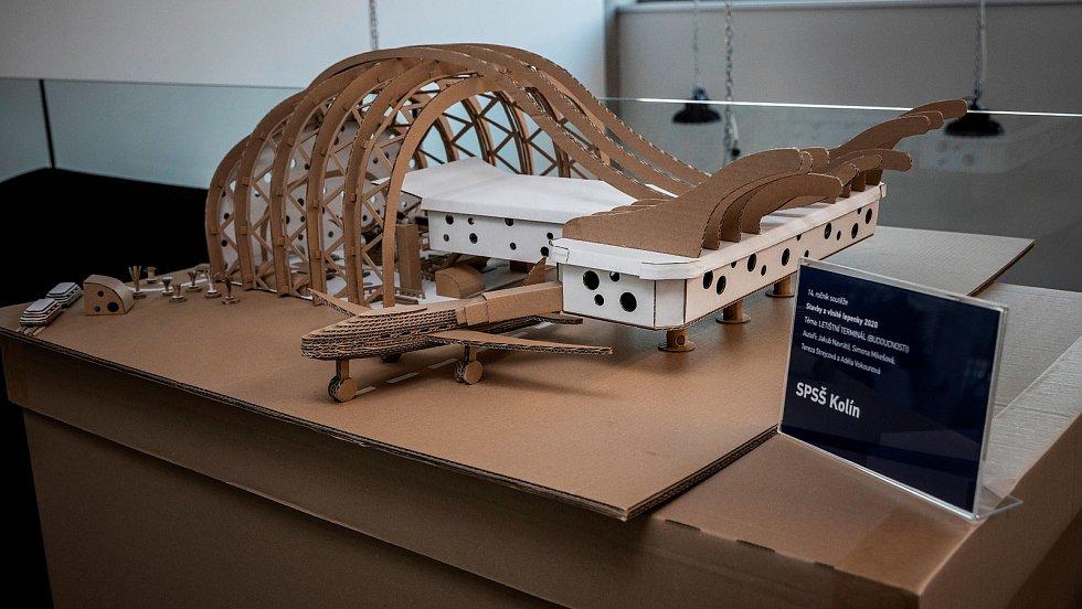 Model letiště od studentů z Kolína, skončil na třetím místě.