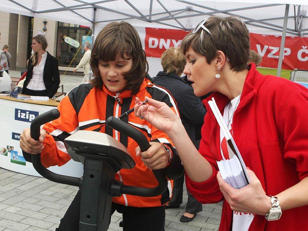 Martina Sáblíková podpořila na náměstí Svobody preventivní projekt Dny zdraví.