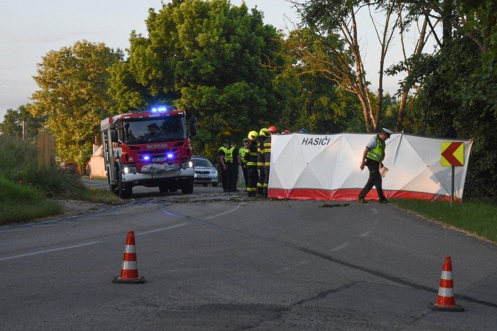 Tragická nehoda u Sokolnic na Brněnsku.