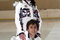 Taneční pár Kamila Hájková a David Vincour.