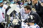 Utkání 50. kola Tipsport extraligy ledního hokeje se odehrálo 26. února 2017 v liberecké Home Credit areně. Utkaly se celky Bílí Tygři Liberec a HC Kometa Brno. Na snímku hlavní trenér Liberce Filip Pešán.