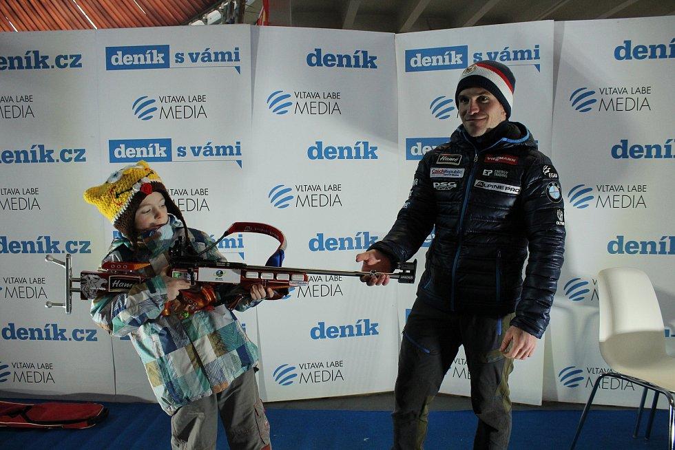Brno 17.02.2018 - Olympijský festival v areálu brněnského výstaviště - beseda s biatlonovým reprezentantem a brněnským rodákem Ondřejem Hoškem.