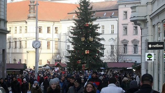 Vánoční trhy v Brně, ilustrační foto.