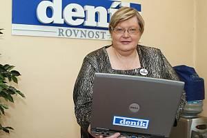 Jana Vofová při online rozhovoru v Deníku Rovnost.