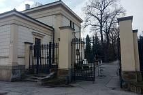 Hlavní vstup na Ústřední hřbitov.