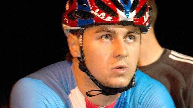 Cyklista Denis Špička.
