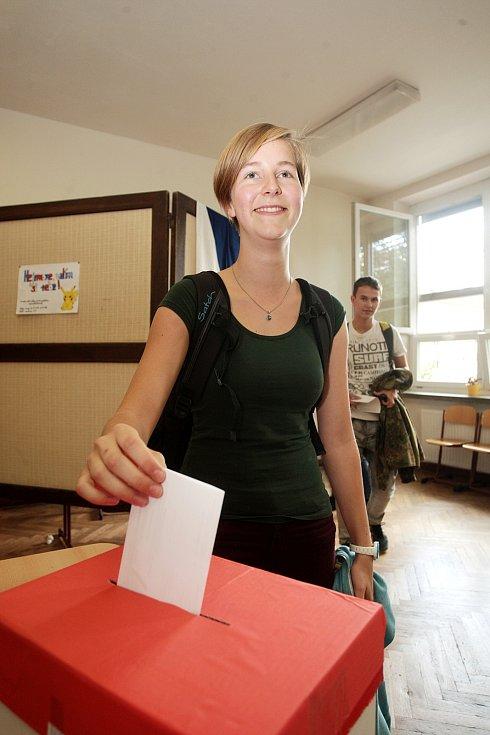 Voleb se tento týden účastní i studenti Gymnázia Brno ve Vídeňské ulici.