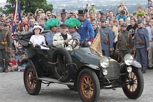 Atentát na Františka Ferdinanda d´Este při rekonstrukci v Brně.
