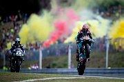 Finálový závod MotoGP Velká cena České republiky, závod mistrovství světa silničních motocyklů v Brně 4. srpna 2019. Na snímku (vpravo) Fabio Quartararo.