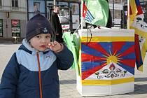 Den pro Tibet na náměstí Svobody v Brně.