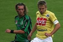 Tomáš Borek (vlevo) ještě v příbramském dresu.