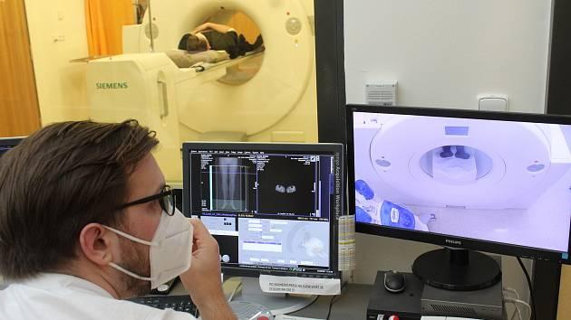 Vyšetření v PET Centru.