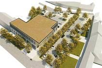 Vizualizace nového víceúčelového domu na Tuřanském náměstí.