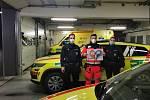 Policisté poděkovali jihomoravským zdravotníkům za práci velkým srdcem.