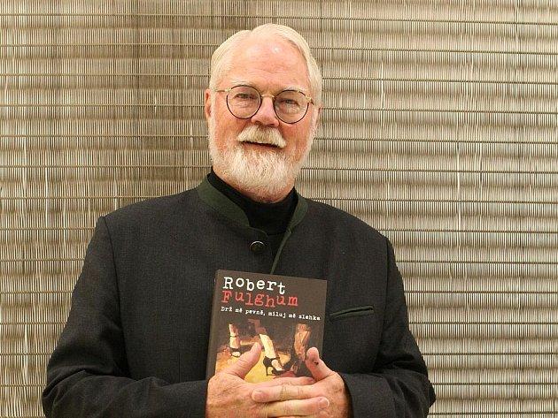 Spisovatel Robert Fulghum v Brně.