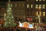 Vánoční strom na náměstí Svobody v Brně - ilustrační foto.
