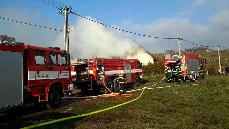 Požár rodinného domu v Nosislavi