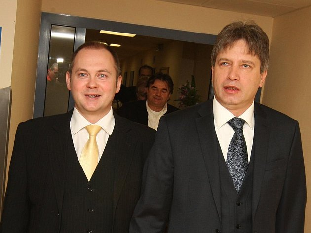Jihomoravský hejtman Michal Hašek a brněnský primátor Roman Onderka.