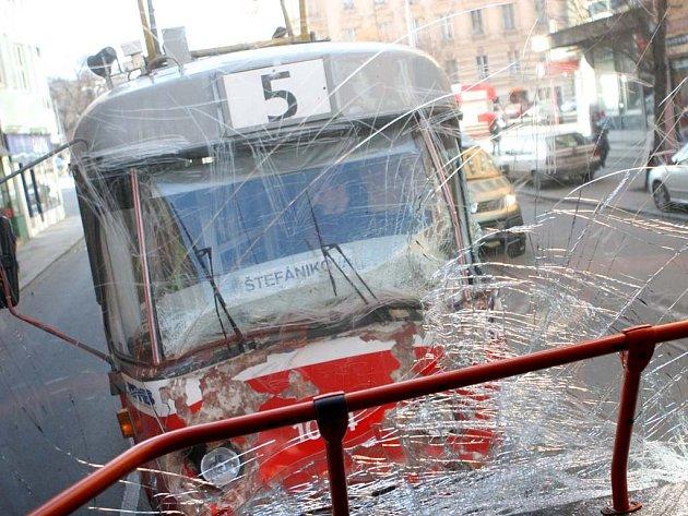 Srážka tramvají - ilustrační foto