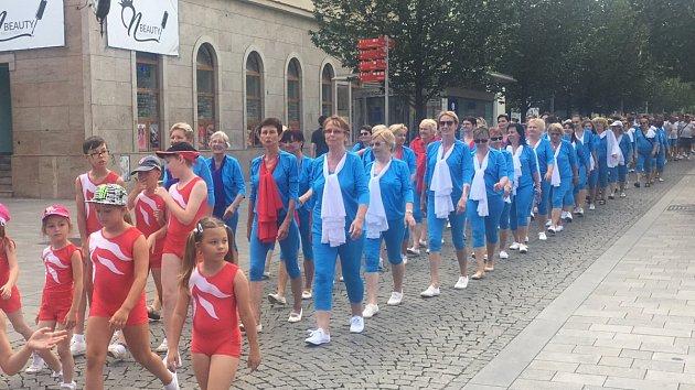 Sokolové přiletěli do Brna. Odhalili desku, prošli se městem a cvičili v dešti