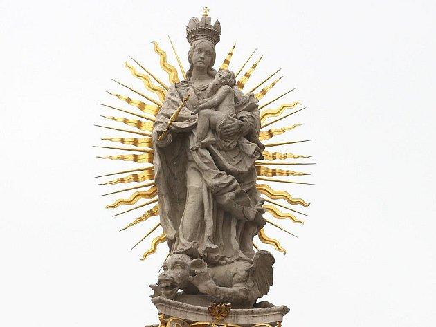 Mariánská socha z morového sloupu na náměstí Svobody.