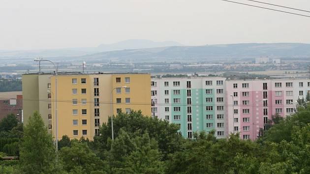 Pohled na panelové domy v brněnské Líšni
