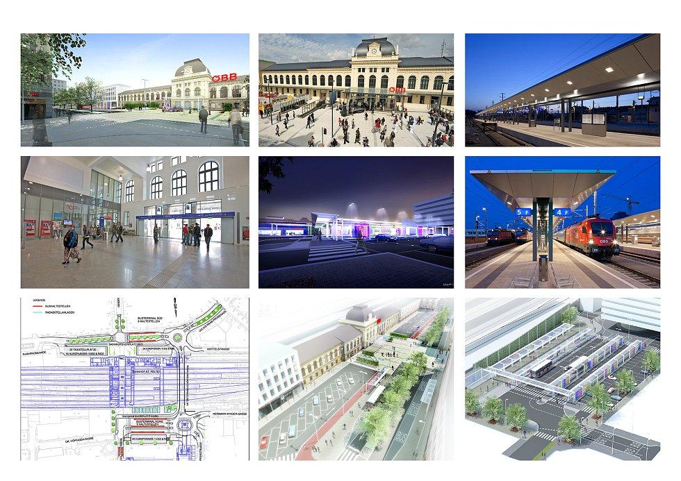 Železniční stanice St. Pölten – dopravní projekt.