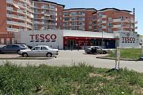 Parkoviště před OD Tesco