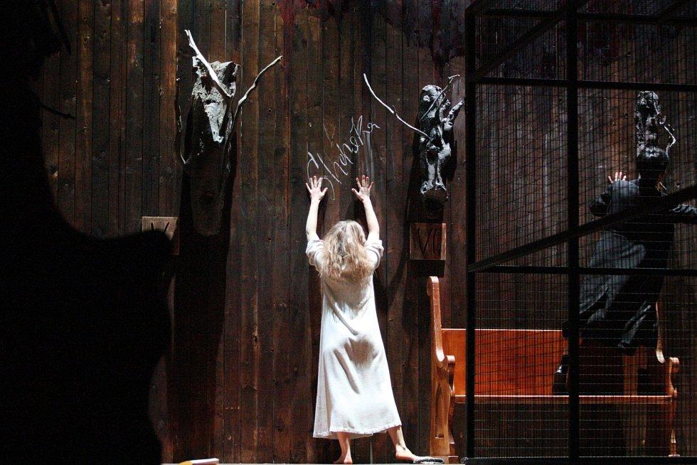 Městské divadlo Brno zkouší inscenaci Žítkovské bohyně (krev je krev).