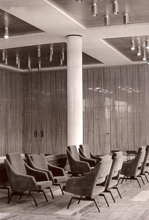 Interiér Janáčkova divadla v 60. letech 20. století.