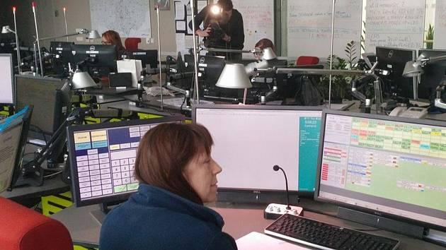 Operační středisko jihomoravských záchranářů.