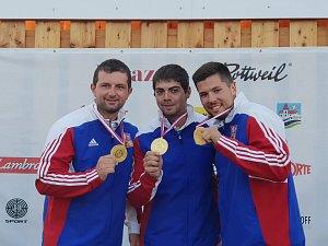 Tomáš Nýdrle, Miloš Slavíček a Jakub Tomeček (na snímku zleva)