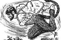 Ilustrace z knihy Pověsti z cimburského podhradí.