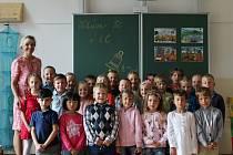 Žáci 1.C ze ZŠ v Křídlovické 30b v Brně s paní učitelkou Ivou Fryaufovou.