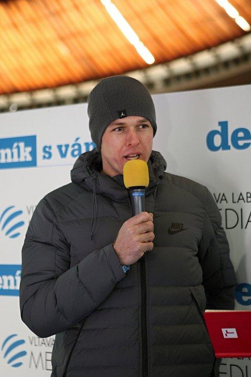 Petr Frydrych při rozhovoru v zóně Deníku na Olympijském festivalu 2018.